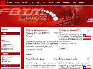 Thumbnail do site F.B.T.M. - Federação Baiana de Tênis de Mesa