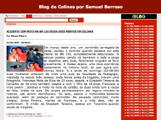 Thumbnail do site Blog de Colinas por Samuel Barroso