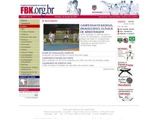 Thumbnail do site F.B.K. - Federação Bahiana de Karatê