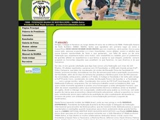 Thumbnail do site F.B.B.B. - Federação Baiana de Bodybuilders