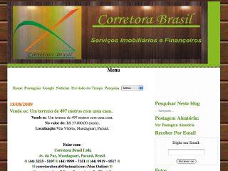 Thumbnail do site Corretora Brasil Ltda - Serviços Imobiliários e Financeiros