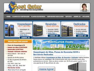 Thumbnail do site Hostgator