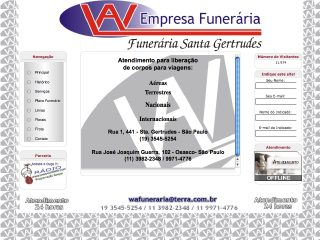 Thumbnail do site WA Funerária