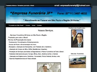 Thumbnail do site Empresa Funerária JF