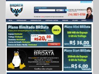 Thumbnail do site BRData Hospedagem de sites