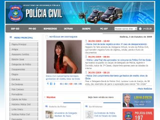 Thumbnail do site Polícia Civil do Estado de Goiás