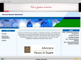 Thumbnail do site Perucci Duarte Advocacia