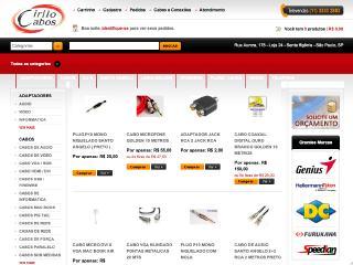 Thumbnail do site Cirilo Cabos - Cabos e Conexões