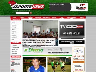 Thumbnail do site Esporte News
