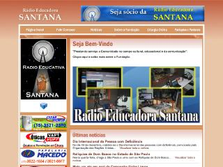 Thumbnail do site Rádio Educadora Santana
