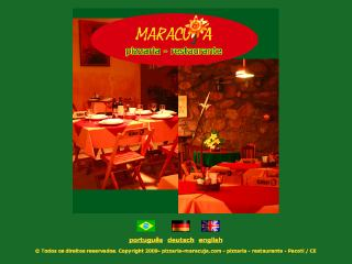 "Thumbnail do site Pizzaria-Restaurante ""Maracujá"""