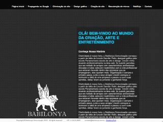 Thumbnail do site Babilonya Comunicação