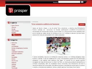 Thumbnail do site Prósper Comunicação
