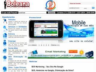 Thumbnail do site Boleana.com.br