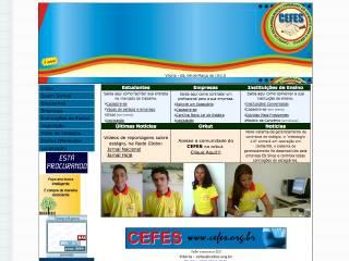 Thumbnail do site CEFES - Centro de Encaminhamento e Formação do Estudante