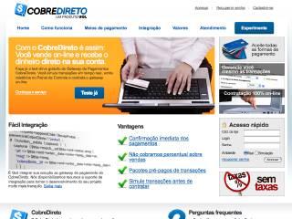 Thumbnail do site CobreDireto - Gateway de Pagamento