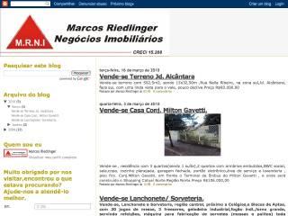 Thumbnail do site M.R.N.I. - Marcos Riedlinger Negócios Imobiliários