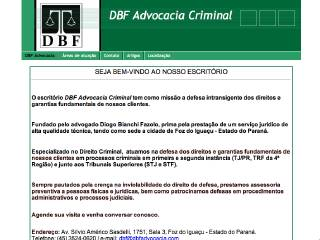 Thumbnail do site DBF Advocacia Criminal