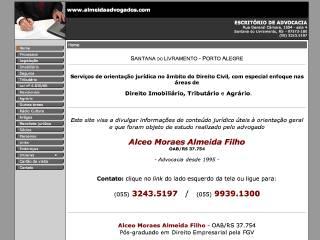Thumbnail do site Alceo Moraes Almeida Filho - Escritório de Advocacia