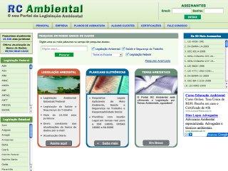 Thumbnail do site Legislação Ambiental Federal e Estadual Atualizada