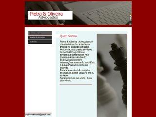 Thumbnail do site Pieta & Oliveira Advogados