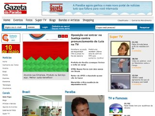 Thumbnail do site Gazeta da Paraiba