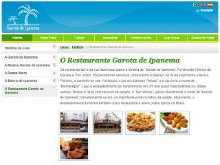 Thumbnail do site Garota de Ipanema Restaurante