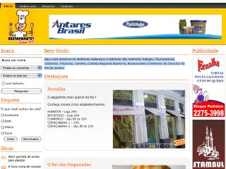 Thumbnail do site Restaurantes  Zona Sul do Rio