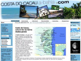 Thumbnail do site Portal da Costa do Cacau (Ilhéus, Itabuna, Itacaré, Canavieiras, Uruçuca...)