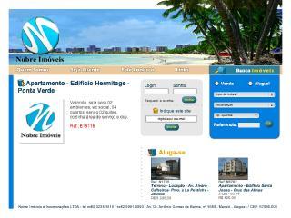 Thumbnail do site Nobre Imóveis e Incorporações