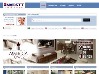 Thumbnail do site Investt Imobiliária