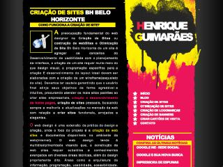 Thumbnail do site Henrique Guimarães - Criação de sites