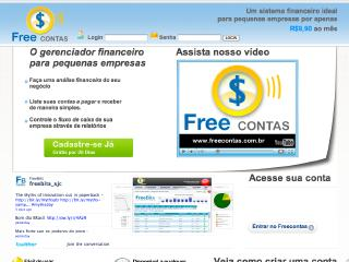 Thumbnail do site FreeContas - Totalmente On line