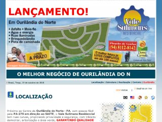 Thumbnail do site Loteamento em Ourilândia do Norte