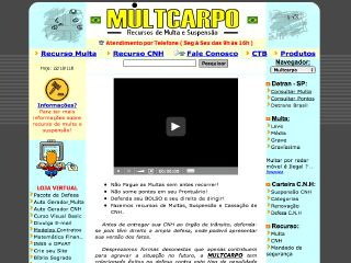 Thumbnail do site Multcarpo - recurso de multa e suspensão