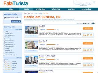 Thumbnail do site Reserva de hotel em Curitiba - FalaTurista