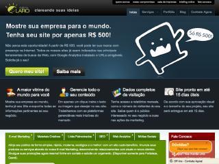 Thumbnail do site Agência Claro - Criação de Sites
