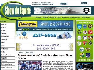 Thumbnail do site ShowDoEsporte - Brasil