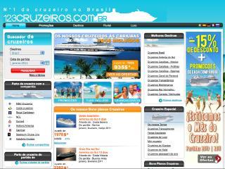 Thumbnail do site 123cruzeiros.com.br : Especialista em cruzeiros