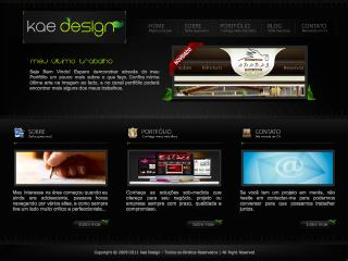 Thumbnail do site Kae design - Desenvolvimento de sites