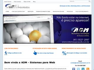 Thumbnail do site ADM - Sistemas para Web