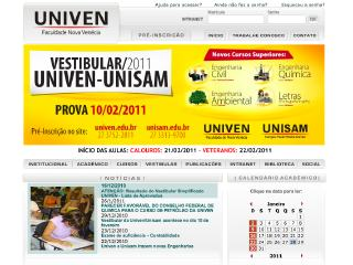 Thumbnail do site Univen - Faculdade Nova Venécia
