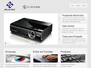 Thumbnail do site Brilho Arte - Locação de Retroprojetores