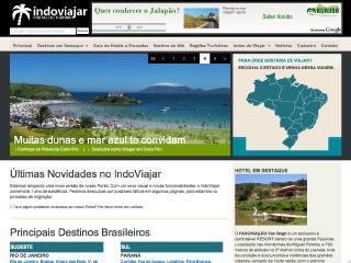 Thumbnail do site Indo Viajar - Portal de Turismo