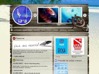 Thumbnail do site 13SUL - Escola e Operadora de Mergulho