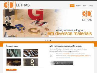 Thumbnail do site 3D Letras - Letreiros e Letra Caixa
