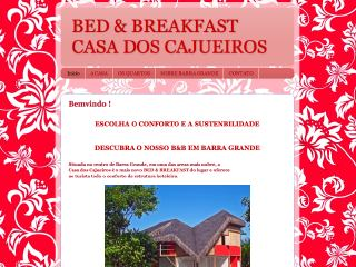 Thumbnail do site Casa Dos Cajueiros - Bed & Breakfast