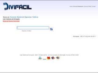 Thumbnail do site Lista Telefonica de Divinópolis