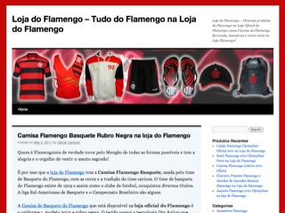 Thumbnail do site Loja do Flamengo