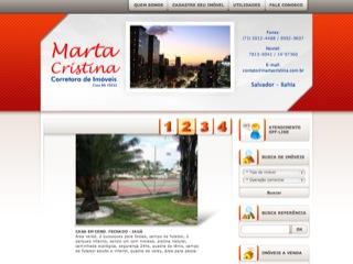Thumbnail do site Marta Cristina - Imóveis
